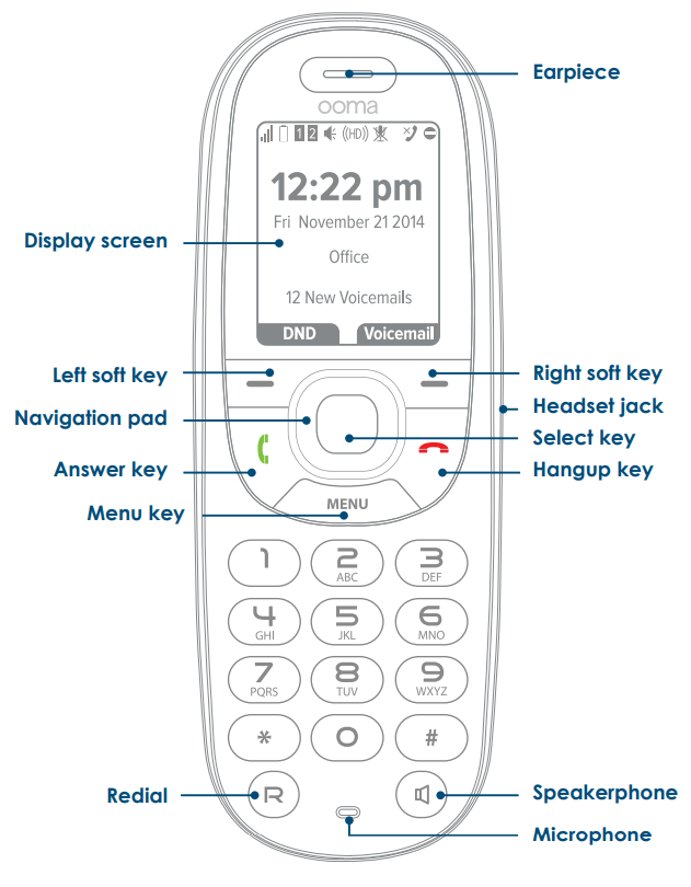 Ooma HD2 Handset Basic Instructions | Home Phone | Support