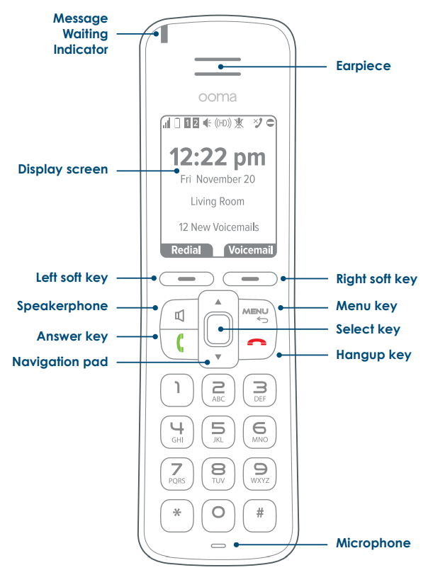Ooma HD3 Handset Basic Instructions | Home Phone | Support