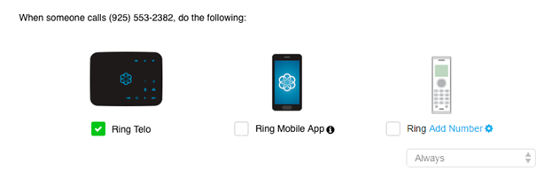 call forwarding preferences