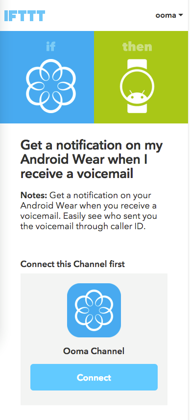 Android connect IFTTT