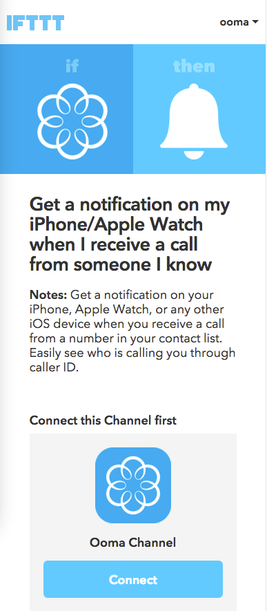 iOS connect IFTTT