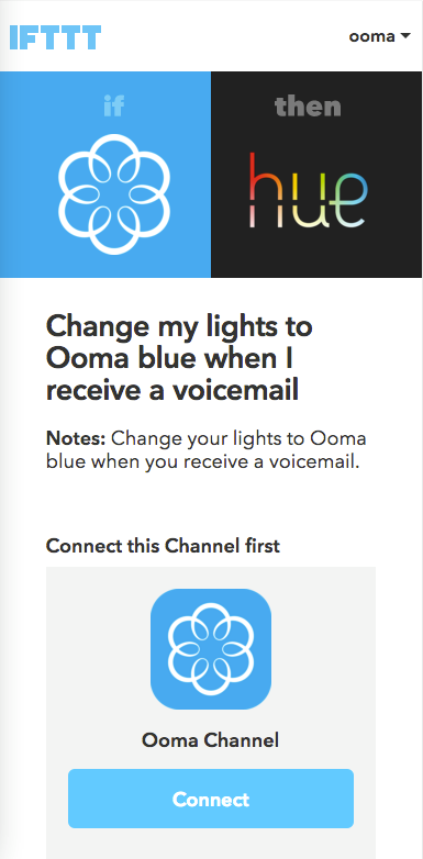 Philips Hue connect IFTTT