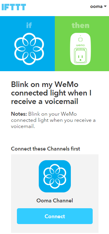 WeMo connect IFTTT