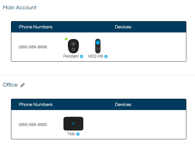 Private Accounts | Home Phone | Support