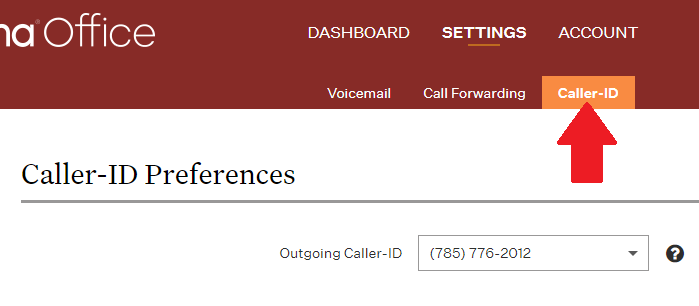 caller ID preferences