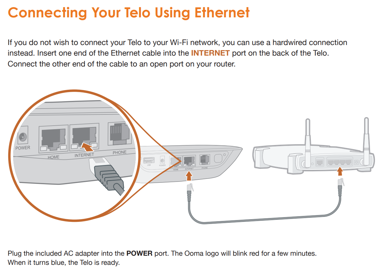 ethernet setup